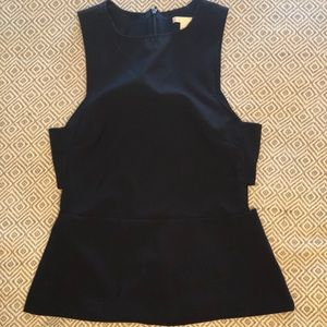 Tops - Navy H&M Side cutout tank
